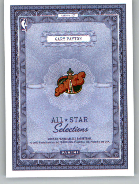 2012-13 Panini Select All-Star Selections #17 Gary Payton NM-MT+ a