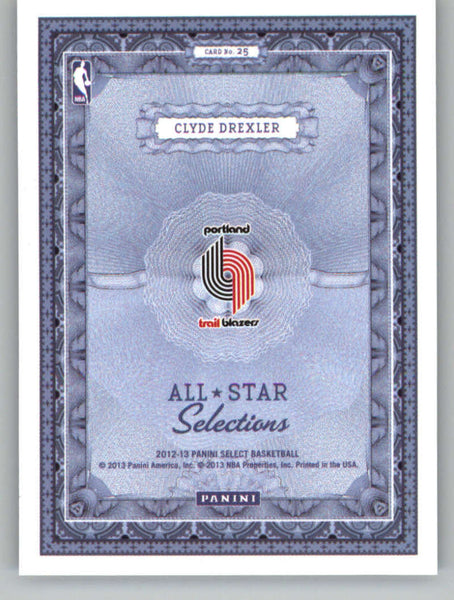 2012-13 Panini Select All-Star Selections #25 Clyde Drexler NM-MT+ a