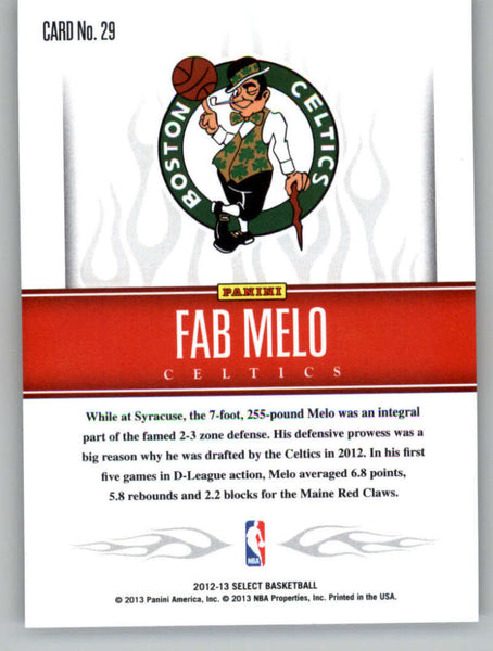 2012-13 Panini Select White Hot Rookies #29 Fab Melo NM-MT+ a RC Rookie