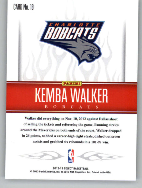 2012-13 Panini Select Hot Stars #18 Kemba Walker NM-MT+ a