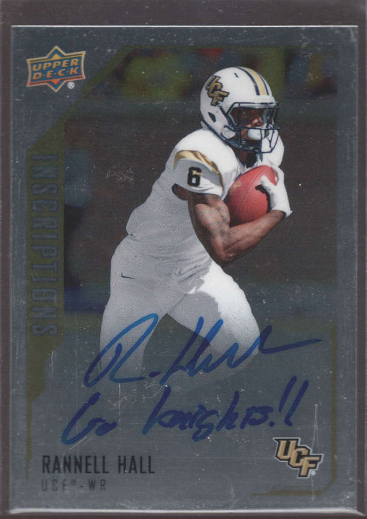 Rannell Hall 2015 UD Upper Deck Inscriptions Autograph UCF Rookie RC RH NM-MT+ h8