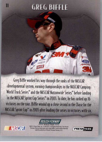 2011 Press Pass Showcase #11 Greg Biffle NM-MT+ ch