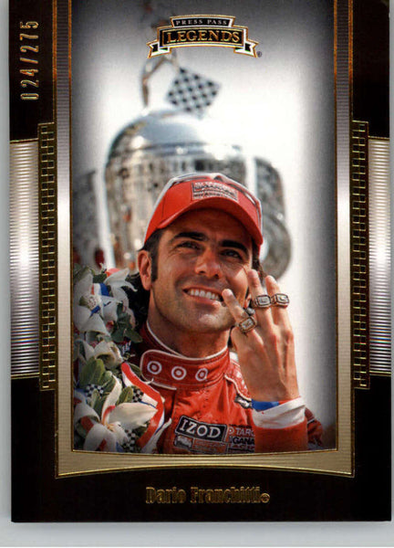 2012 Press Pass Legends Gold #13 Dario Franchitti NM-MT+ ch /275
