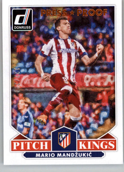 2015 Donruss Pitch Kings Bronze Press Proofs #20 Mario Mandzukic MINT /299 Atletico Madrid