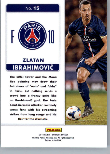 2015 Donruss Fantastic Finishers #15 Zlatan Ibrahimovic MINT Paris SaintGermain