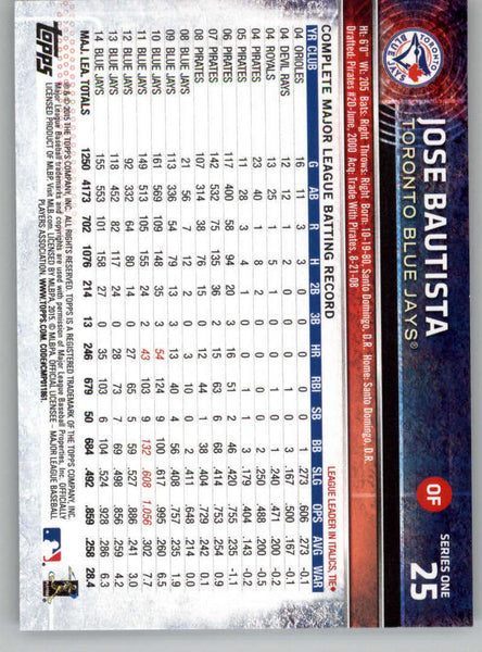 2015 Topps #25 Jose Bautista NM-MT+ CE