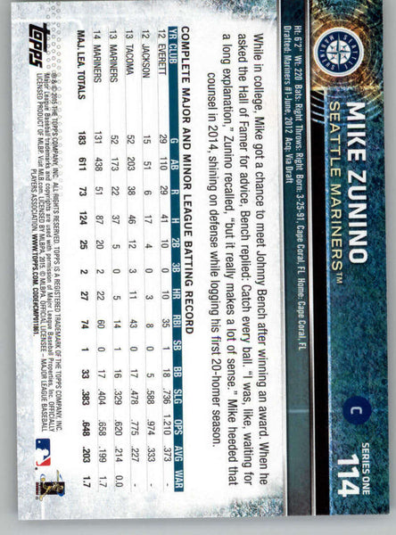 2015 Topps #114 Mike Zunino NM-MT+ CE