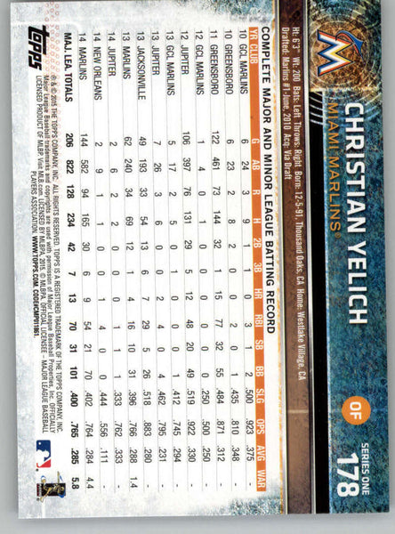 2015 Topps #178 Christian Yelich NM-MT+ CE