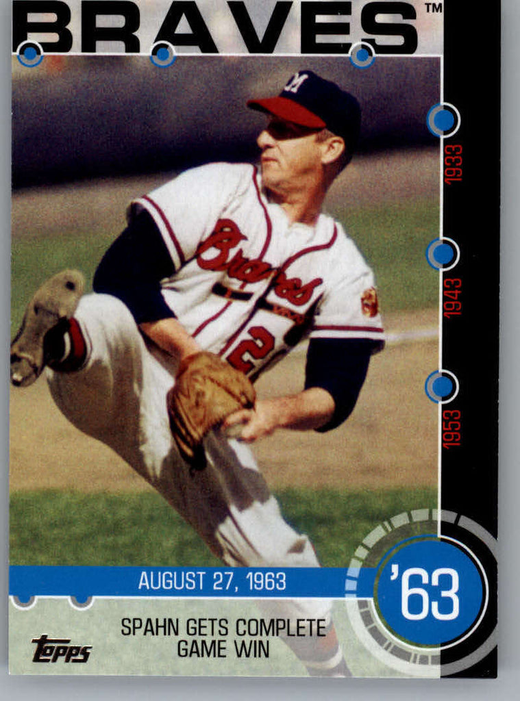 2015 Topps Baseball History #5B Warren Spahn NM-MT+ CE