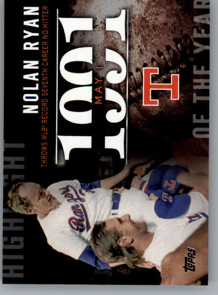 2015 Topps Highlight of the Year #H-54 Nolan Ryan NM-MT+ CE