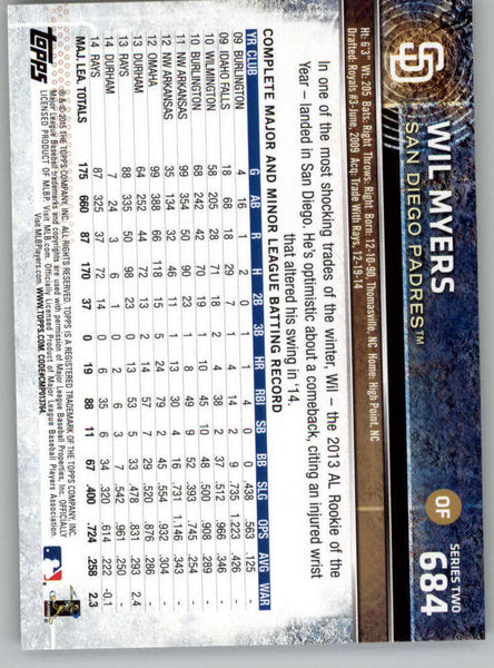 2015 Topps #684 Wil Myers NM-MT+ CE