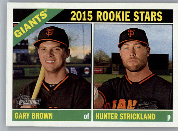 2015 Topps Heritage #373 Gary Brown/Hunter Strickland NM-MT+ CE