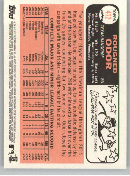 2015 Topps Heritage #412 Rougned Odor NM-MT+ CE
