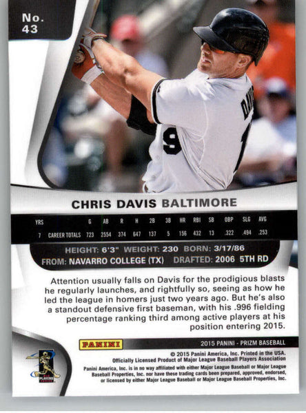 2015 Panini Prizm #43 Chris Davis NM-MT+ CE