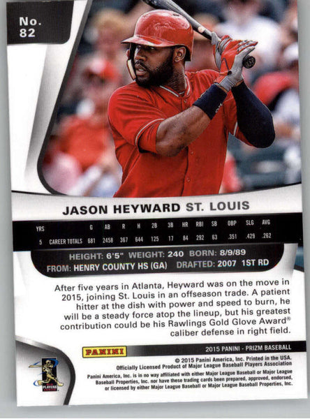 2015 Panini Prizm #82 Jason Heyward NM-MT+ CE