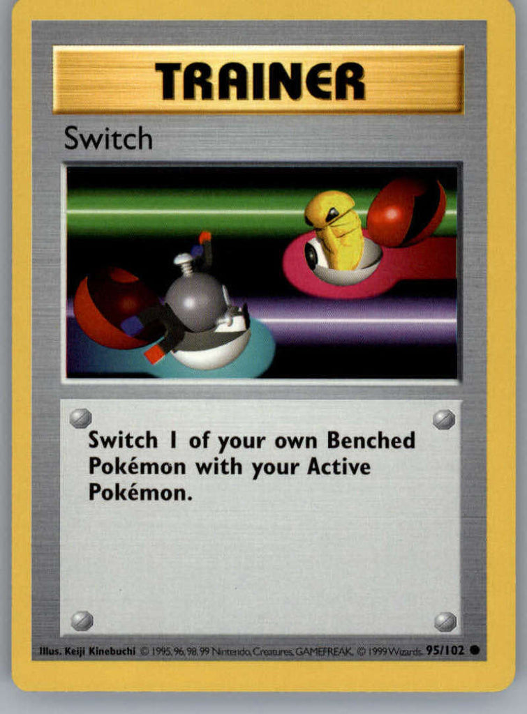 Switch # 95//102 Unlimited Base Set Pokemon TCG Game Trading Cards Trainer