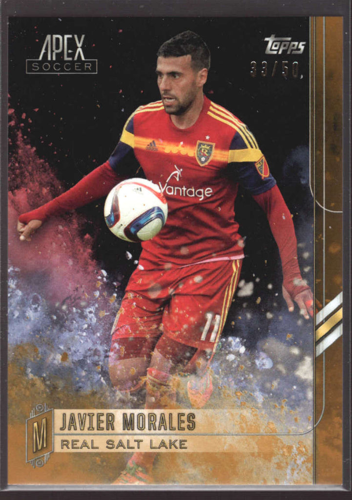 2015 Topps APEX MLS Gold #98 Javier Morales #d NM-MT