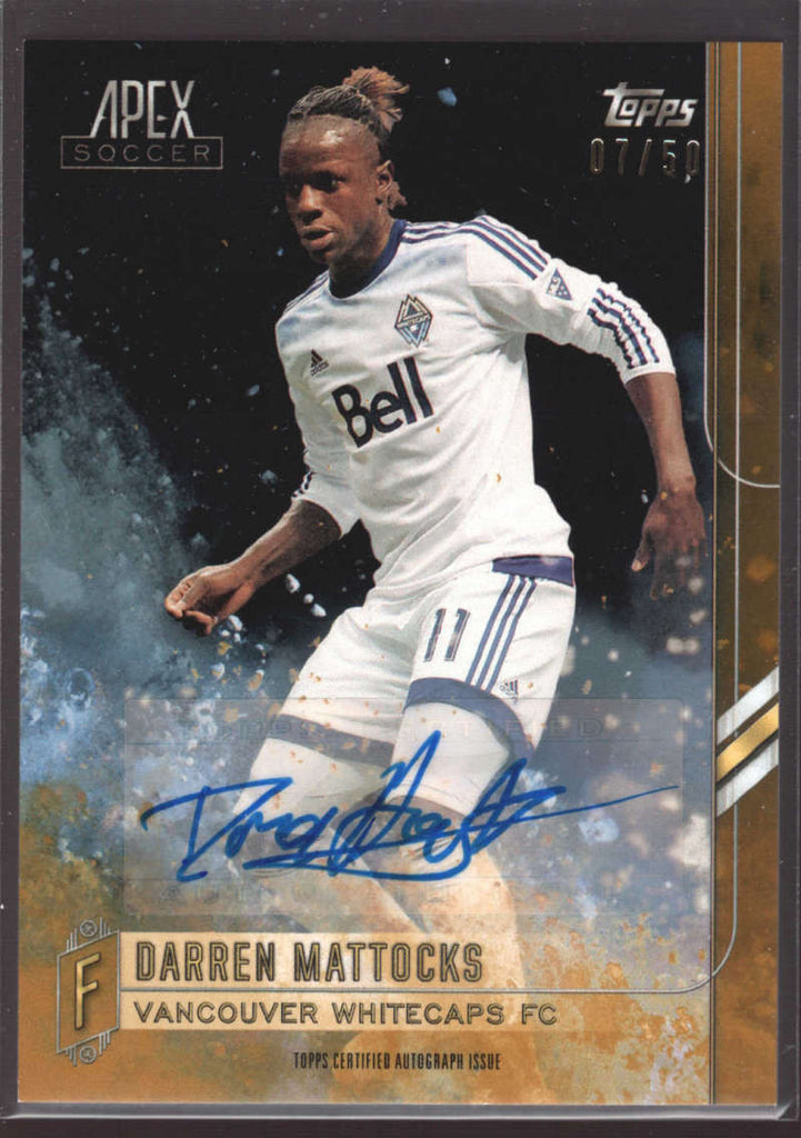 2015 Topps APEX MLS Gold Autographs #26 Darren Mattocks #d NM-MT Auto