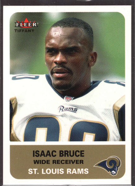 Isaac Bruce 2002 Fleer Tradition Tiffany /225 61 St. Louis Rams