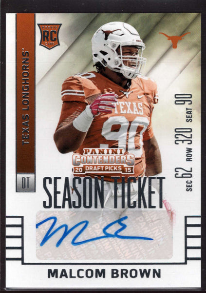 2015 Contenders Draft Picks Season Ticket Auto /250 SP #217 Malcom Brown