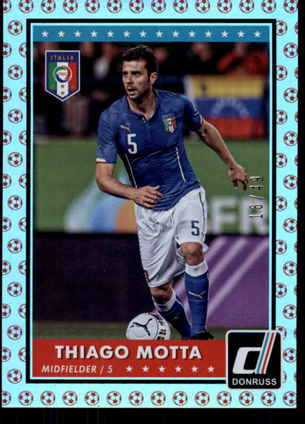 2015 Donruss National Team Photo Variations Red Soccer Ball #56 Thiago Motta NM-MT+ /49