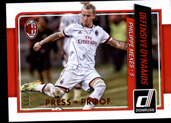 2015 Donruss Defensive Dynamos Bronze Press Proof #7 Philippe Mexes NM-MT+ /299
