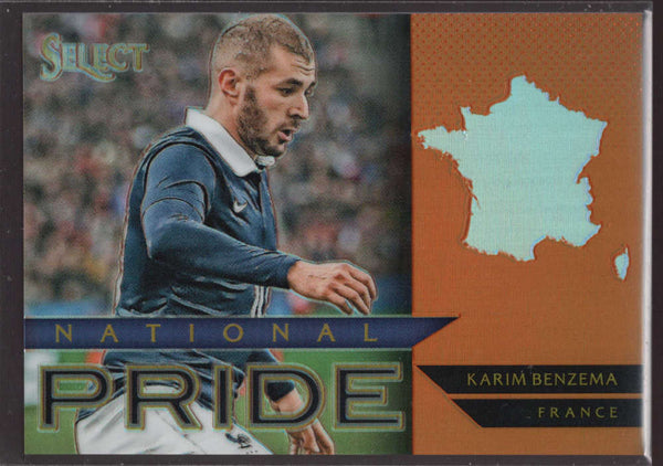 2015 Panini Select National Pride Orange #18 Karim Benzema Mint /149