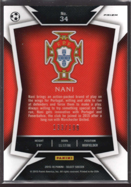 2015 Panini Select Variation Red #34 Nani Mint /199