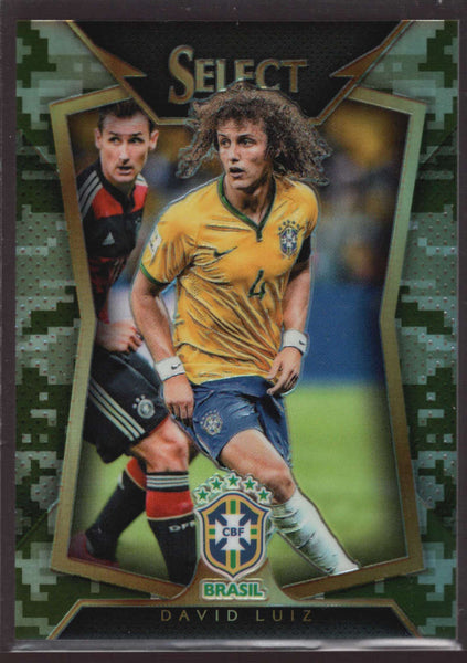 2015 Panini Select Variation Camo #21 David Luiz Mint /249