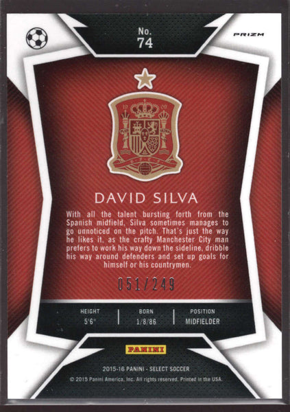 2015 Panini Select Variation Camo #74 David Silva Mint /249