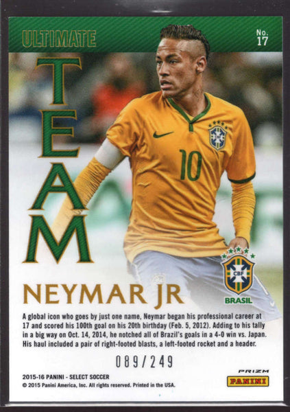 2015 Panini Select Ultimate Team Camo #17 Neymar Jr Mint /249