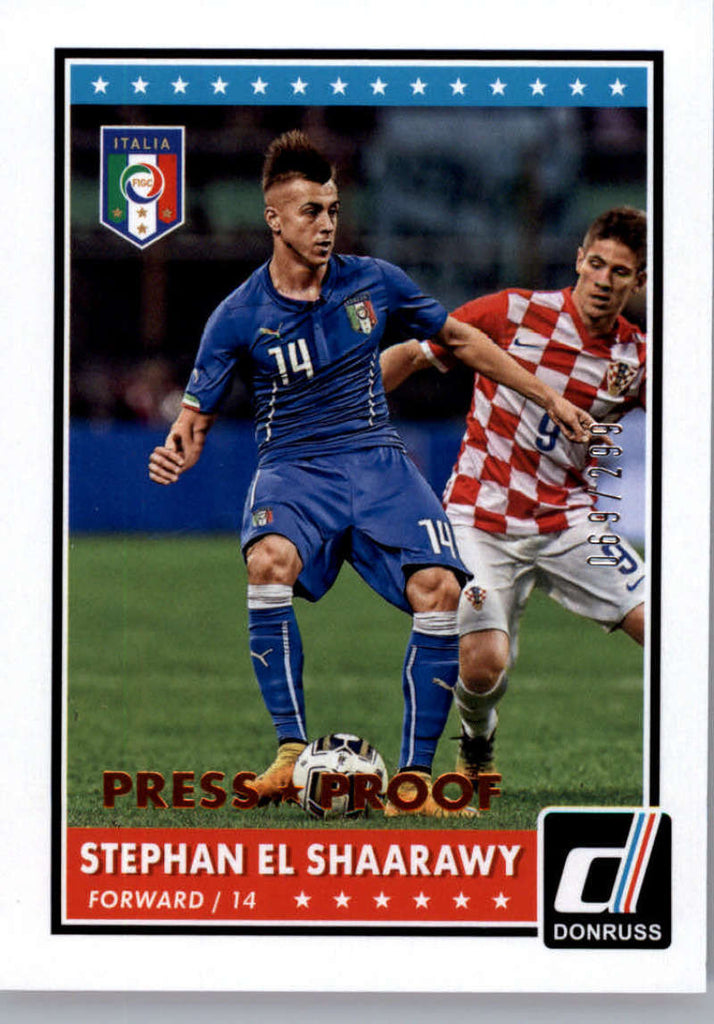 2015 Donruss National Team Photo Variations Bronze Press Proof #12 Stephan El Shaarawy NM-MT /299