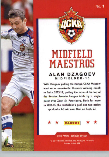 2015 Donruss Midfield Maestros Bronze Press Proofs #1 Alan Dzagoev NM-MT /299