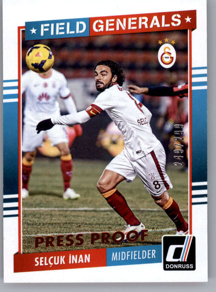 2015 Donruss Field Generals Bronze Press Proof #13 Selcuk Inan NM-MT /299