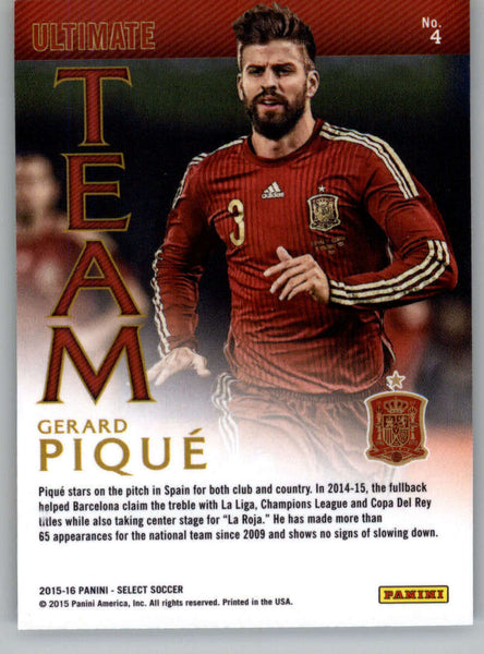 2015 Panini Select Ultimate Team #4 Gerard Pique NM-MT