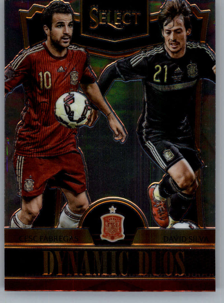 2015 Panini Select Dynamic Duos #9 Cesc Fabregas/David Silva NM-MT