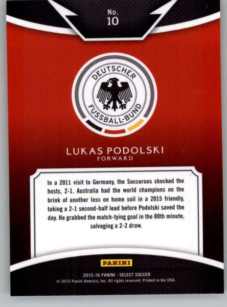 2015 Panini Select Equalizers #10 Lukas Podolski NM-MT