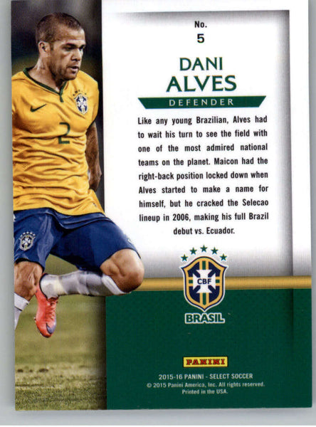2015 Panini Select National Pride #5 Dani Alves NM-MT