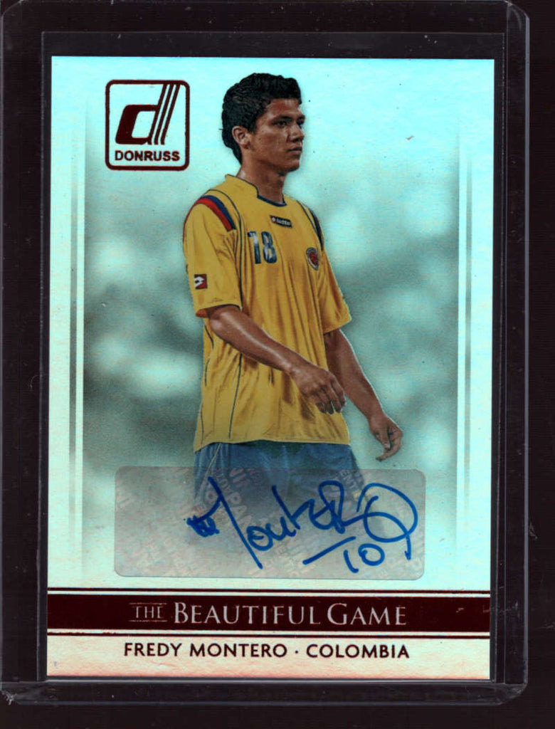 2015 Donruss The Beautiful Game Signatures #45 Fredy Montero Mint Auto