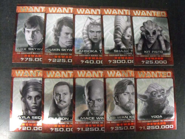 2015 Topps Star Wars Chrome Perspectives Jedi Hunt (Citizens Alert) 10 Card Complete Insert Chase Set