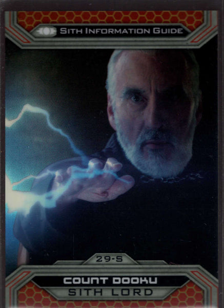 2015 Topps Star Wars Chrome Perspectives: Jedi vs Sith Gold Refractor #29-S Count Dooku Mint /50