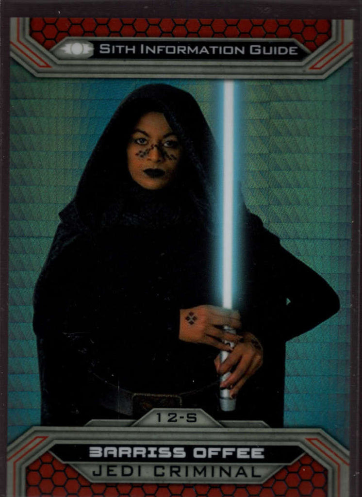 2015 Topps Star Wars Chrome Perspectives: Jedi vs Sith Prism Refractor #12-S Barriss Offee Mint /199