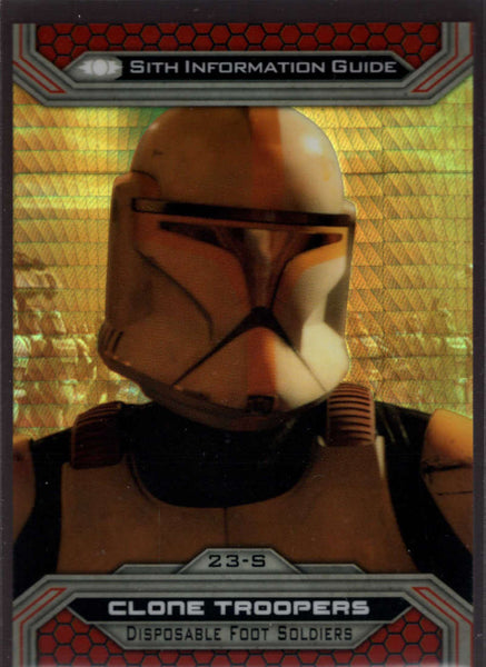 2015 Topps Star Wars Chrome Perspectives: Jedi vs Sith Prism Refractor #23-S Clone Troopers Mint /199