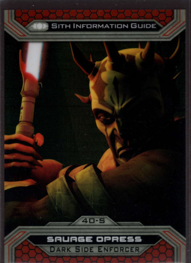 2015 Topps Star Wars Chrome Perspectives: Jedi vs Sith Prism Refractor #40-S Savage Opress Mint 1/199