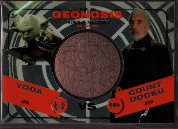 2015 Topps Star Wars Chrome Perspectives: Jedi vs Sith Medallions #11 Duel: Yoda vs. Count Dooku NM-MT Jersey