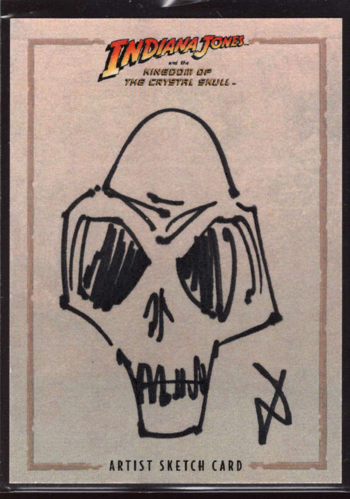 Skull Villain 1/1 Artist Sketch Card 2008 Indiana Jones Crystal Skull