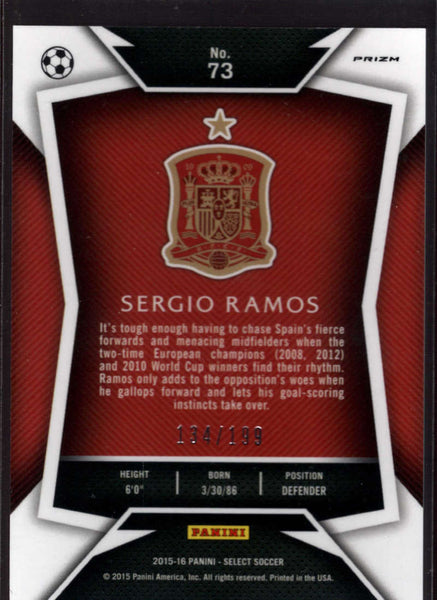2015 Panini Select Variation Red #73 Sergio Ramos Mint /199