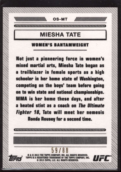 Meisha Tate 2013 Topps UFC Black SP /88 Bloodlines Octagon Side NM-MT+