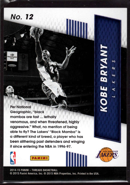 2014-15 Panini Threads High Flyers Century Proof Red #12 Kobe Bryant Mint /99