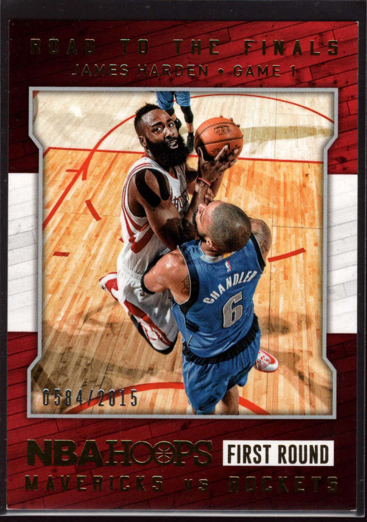 2015-16 Panini Hoops Road to the Finals First Round #4 James Harden Mint /2015